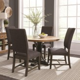 Coaster Bishop 5pc Grey Round Dining Table Set Available Online in Dallas Fort Worth Texas