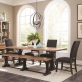 Coaster Bishop 5pc Grey Rectangular Dining Table Set Available Online in Dallas Fort Worth Texas
