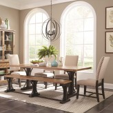 Coaster Bishop 5pc Beige Rectangular Dining Table Set Available Online in Dallas Fort Worth Texas