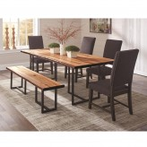 Coaster Suthers 5pc Grey Dining Table Set Available Online in Dallas Fort Worth Texas