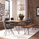Coaster Sutherson 5pc Brown Dining Table Set Available Online in Dallas Fort Worth Texas