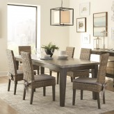 Coaster Davenport 7pc Aged Patina Rectangular Dining Table Set Available Online in Dallas Fort Worth Texas