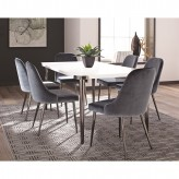 Coaster Riverbank 7pc Blue Dining Table Set Available Online in Dallas Fort Worth Texas