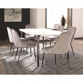 Coaster Riverbank 7pc Grey Dining Table Set Available Online in Dallas Fort Worth Texas