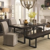 Coaster Keller 5pc Reclaimed Wood Dining Table Set Available Online in Dallas Fort Worth Texas