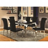 Coaster Carone 7pc Black Rectangular Dining Table Set Available Online in Dallas Fort Worth Texas