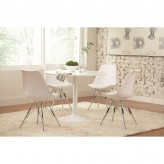 Coaster Lowry 5pc White Dining Table Set Available Online in Dallas Fort Worth Texas