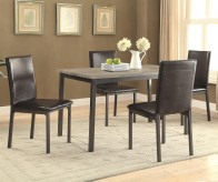 Coaster Garza 5pc Black Dining Table Set Available Online in Dallas Fort Worth Texas