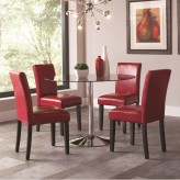 Coaster Clemente 5pc Chrome Dining Table Set Available Online in Dallas Fort Worth Texas