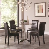 Coaster Clemente 5pc Chrome Dining Table Sets Available Online in Dallas Fort Worth Texas