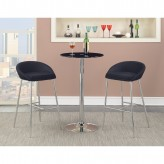 Coaster Rec Room 3pc Chrome Round Bar Unit Available Online in Dallas Fort Worth Texas