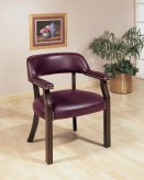 Burgundy Captain's Chair Available Online in Dallas Fort Worth Texas