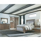 Coaster Florence 5pc Solid Pine Upholstered King Bedroom Group Available Online in Dallas Fort Worth Texas