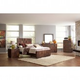 Coaster Gallagher 5pc Golden Brown Queen Panel Bedroom Group Available Online in Dallas Fort Worth Texas