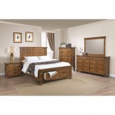 Coaster Brenner 5pc Rustic Honey Queen Panel Storage Bedroom Group Available Online in Dallas Fort Worth Texas