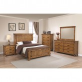 Coaster Brenner 5pc Rustic Honey Queen Panel Bedroom Group Available Online in Dallas Fort Worth Texas