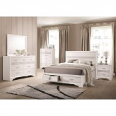 Coaster Miranda 5pc White Queen Storage Platform Bedroom Group Available Online in Dallas Fort Worth Texas