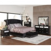 Coaster Barzini 5pc Black Upholstered Queen Bedroom Group Available Online in Dallas Fort Worth Texas