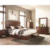 Coaster Artesia 5pc Dark Cocoa Queen Platform Storage Bedroom Group Available Online in Dallas Fort Worth Texas
