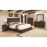 Coaster Artesia 5pc Dark Cocoa Queen Platform Bedroom Group Available Online in Dallas Fort Worth Texas