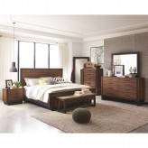 Coaster Ellison 5pc Bourbon Brown King Platform Bedroom Group Available Online in Dallas Fort Worth Texas