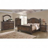 Satterfield 5pc Warm Bourbon Queen Bedroom Group Available Online in Dallas Fort Worth Texas