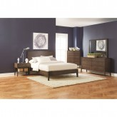 Coaster Lompoc 5pc Ash Brown King Platform Bedroom Group Available Online in Dallas Fort Worth Texas