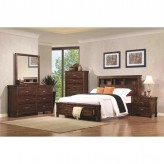 Coaster Noble 5pc Rustic Oak King Captain Panel Storage Bedroom Group Available Online in Dallas Fort Worth Texas