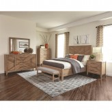 Coaster Auburn 5pc White Washed Natural King Panel Bedroom Group Available Online in Dallas Fort Worth Texas