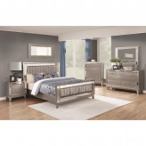 Coaster Leighton 5pc Metallic Mercury King Panel Bedroom Group Available Online in Dallas Fort Worth Texas