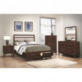 Coaster Carrington 5pc Coffee King Platform Storage Bedroom Group Available Online in Dallas Fort Worth Texas