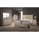 Coaster Beaumont 5pc Champagne Queen Bedroom Group Available Online in Dallas Fort Worth Texas
