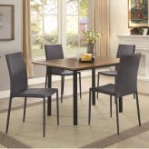 Coaster Adler 5pc Walnut And Black Extendable Dining Table Set Available Online in Dallas Fort Worth Texas