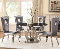 Coaster Blasio 5pc Chrome Dining Table Set Available Online in Dallas Fort Worth Texas