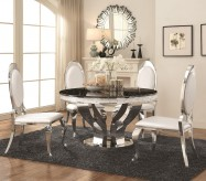 Coaster Anchorage 5pc Chrome Dining Table Set Available Online in Dallas Fort Worth Texas