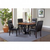 Coaster Boyer 5pc Black/Cherry Dining Table Set Available Online in Dallas Fort Worth Texas