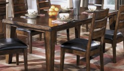 Ashley Larchmont Rectangular Extension Leaf Dining Table Available Online in Dallas Fort Worth Texas