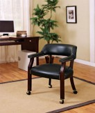 Black Captain's Chair With Casters Available Online in Dallas Fort Worth Texas