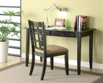 Garza Dark Desk & Chair Set Available Online in Dallas Fort Worth Texas