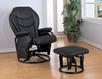 Coaster Shelves Glider Recliner With Ottoman Available Online in Dallas Fort Worth Texas