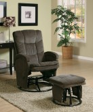 Coaster Hurley Chocolate Recliner with Matching Ottoman Available Online in Dallas Fort Worth Texas