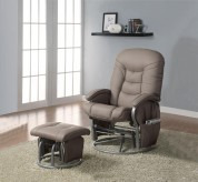 Mark Beige Glider Recliner with Matching Ottoman Available Online in Dallas Fort Worth Texas