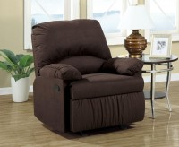 Coaster Shelves Chocolate Glider Recliner Available Online in Dallas Fort Worth Texas