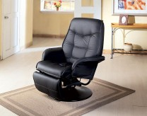 Coaster Georgia Black Swivel Reclining Chair Available Online in Dallas Fort Worth Texas