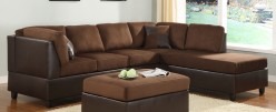 Homelegance Comfort Living 3pc Chocolate Chaise Sectional Available Online in Dallas Fort Worth Texas