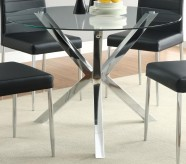 Coaster Vance Chrome Dining Table Available Online in Dallas Fort Worth Texas