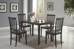 Coaster Oakdale 5pc Tobacco/Black Dining Room Set Available Online in Dallas Fort Worth Texas