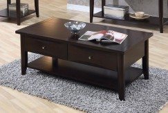 Coaster Whitehall Cappuccino Coffee Table Available Online in Dallas Fort Worth Texas