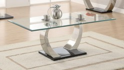 Shearwater Satin Plated Coffee Table Available Online in Dallas Fort Worth Texas