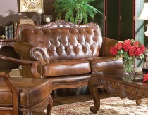 Victoria Leather Loveseat Available Online in Dallas Fort Worth Texas
